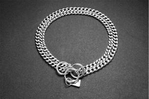 Dog Chain Collar Stainless Steel Double Three Four Rows Chain Collar for Choice