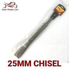 """SDS scalpello 25mm (1 """") larga piatto,calore filettata,hardend acciaio, lungo,"""