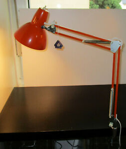 70er Jahre Gelenklampe Architektenlampe Orange LX Luxo ?