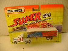 1992 MATCHBOX SUPER RIGS TRUCKIN' USA KENWORTH AERODYNE TRUCK & TRAILER NEW MOC
