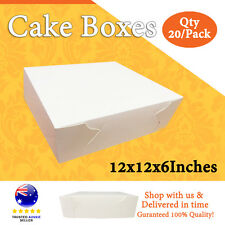 CAKE BOXES 12x12x6 Inches 20/Pack Cake Boards - Wedding Cake Box - Cupcake Boxes