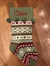 Knit Argyl Christmas Stocking Claire