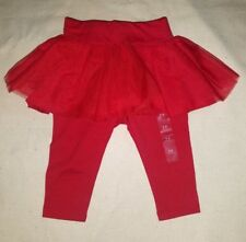 NEW Baby Gap red TULLE SKIRT LEGGINGS DUO 3-6 m tutu pants outfit photos HOLIDAY