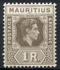Mauritius 1938-49 SG#260b 1R Grey-Brown KGVI MH #A89059