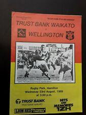 New listing 1989 Waikato verses Wellington Rugby Union Program 23 august 1989 (C)