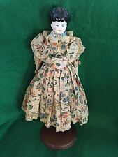 Dresden Antique China Doll/Stand Collectible Germany circa 1850...Rare Vintage
