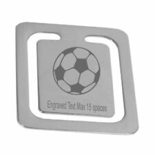Engraved Football Soccer Bookmark Personalised Logo Page Bookmark Boxed