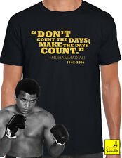 Muhammad Ali Tribute T-Shirt Boxing Cassius Clay Champion Greatest Legend Tee