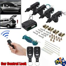 Car Door Entry System Auto Locking 2 Remote Control Central Keyless Lock Kit TT