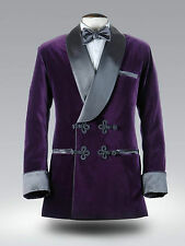 Men Fashion Wedding Party Wear Smoking Tuxedo Shawl Lapel Jacket Blazer UK