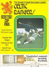 Scottish Cup Final 1977 Celtic v Rangers