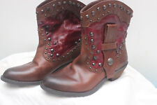 Vince Camuto Studded Leather Western Cowboy Boots Sz 7B~37~$129 Value Leather