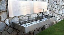 Luxurious BBQ Kitchen Stainless Steel Bench And Grill Granite Top Charcoal Heat
