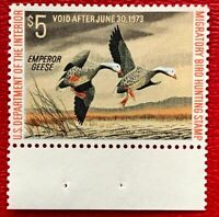 1972 US Federal Duck Stamps SC#RW39 MNH/OG CV:$30