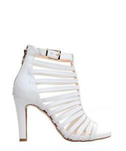 Versace 19.69 Womens Multi Strap Shoes Heels Sandals White Martine Sz 7uk EU 40