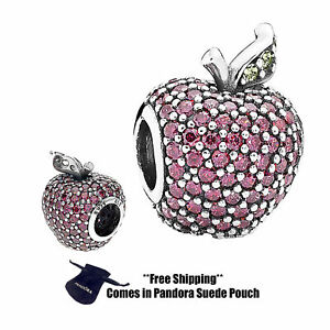 Authentic Pandora Sterling Silver Charm 791485CFR Red Pave Apple