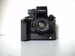 """Appareil phot argentique CANON F1"""" Old style"""" lens booster T Finder power winder"""