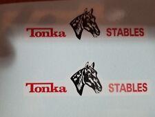 TONKA TRUCK STABLES FARM  TRAILER  DECAL SET