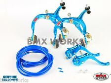 Dia-Compe MX1000 - MX123 - Tech-4 Bright Blue Brake Set - Old Vintage School BMX