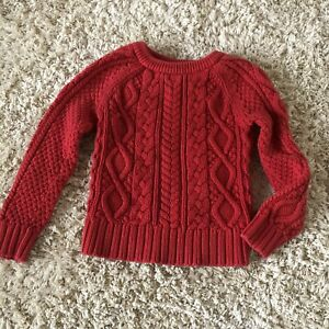 Gap Red Knit Sweater Girl 4 5 Toddler Top Valentine
