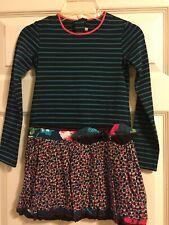Catimini Striped Bubble Dress Girls Size 122 or 7