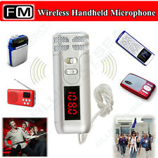 New Handheld Mini FM Wireless Microphone Condenser Mic for Megaphone Loudspeaker