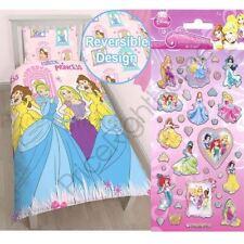 Set di lenzuola e copripiumini rosa per bambini