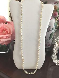 "🌸 NWOT 34"" Honora White 7MM Pearl Gemstone Necklace  Amethyst Citrine Peridot"