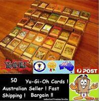 YuGiOh! 50 Bulk Cards Pack [5 Rares & HOLOS] BEST GENUINE KONAMI AUSTRALIA