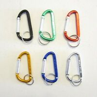 """25 NEW CARABINER SPRING CLIP KEYCHAINS BACKPACK BELT KEY RING CHAINS  3"""" SIZE"""