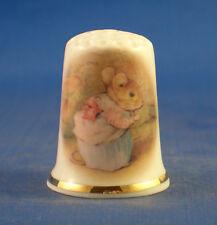 Birchcroft China Thimble -- Beatrix Potter - Mrs Tittlemouse -  Free  Gift Box