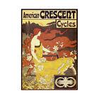 Alphonse Mucha American Crescent Cycles Mucha Bump Framed Wall Art Print