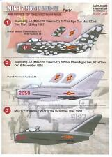 Print Scale Decals 1/48 MIKOYAN MiG-17 & MIKOYAN MiG-21 Vietnam War Part 1