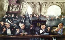 """Scarface, the Godfather, Goodfellas and the Sopranos  Canvas Print  A1 30"""" x 20"""""""
