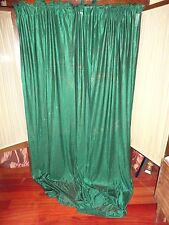 VINTAGE SPORTS COVERAGE GREEN JERSEY (PAIR) CURTAIN PANELS 42 X 86 FOOTBALL