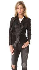 NWT Catherine Malandrino Alfreda Quilted Leather Ponte Jacket Blazer Coat SZ 8