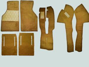 Cognac Velours Carpet Set for Fiat X1/9 1972-1989 Carpet Kit