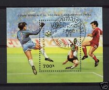 Laos 1991 World Cup Football Cto Used M/S