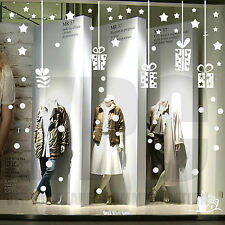 vetrofanie natalizie vetrofania natale adesivo addobbo vetrine negozio 64 pz