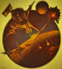boris vallego battlestar scifi fantasy 80s vintage retro tshirt print, NOS