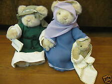 Dakin #25673 NATIVITY BEARS, set of three, mint/tag NEW from our Retail Store