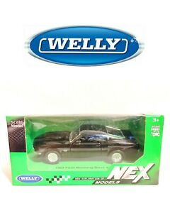 1969 FORD MUSTANG BOSS 429 BLACK WELLY 1/34-1/39 VOITURE