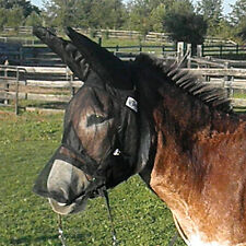 Quiet Ride Mule Donkey Fly Mask with Long Nose and Long Ears Warmblood