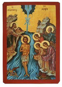 BAPTISM OF CHRIST-Greek Byzantine Orthodox Icon