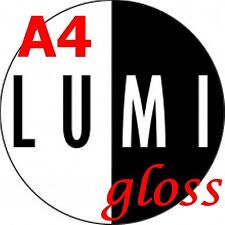 500 FOGLI 250 GSM a4 LUMI Gloss BIADESIVO Carta Stampante-Laser-digitale
