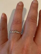 Fragrant Jewels Sweet Retreat Rhodium Plated Ring Size 7 With Clear Stones