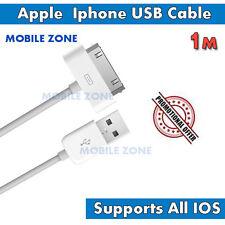 CARICABATTERIE ORIGINALE USB Cavo Dati Lead Per Apple iPhone 3 3GS 4 4S IPAD 1 2 IPOD