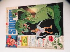 SPIROU LE JOURNAL DE SPIROU 1976 DE GIETER poster LA FLUTE A 6 SCHTROUMPFS  1976
