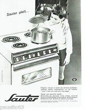 PUBLICITE ADVERTISING 126  1964   Sauter   cuisinière au gaz grand luxe