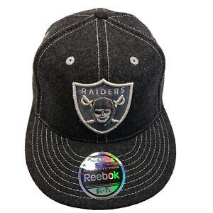 Las Vegas Raiders NFL Reebok Team Issue 6 7/8-7 1/4 Fitted Cap Hat $28 Oakland